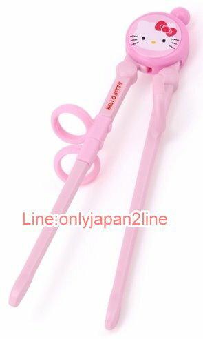 【真愛日本】17030100003輔助練習筷-大臉粉  三麗鷗 Hello Kitty 凱蒂貓 餐具 筷子 正品 限量 預購