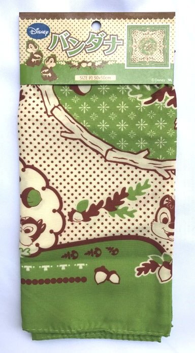 日本 迪士尼 奇奇蒂蒂 方巾 頭巾 圍巾 50×50cm *夏日微風*