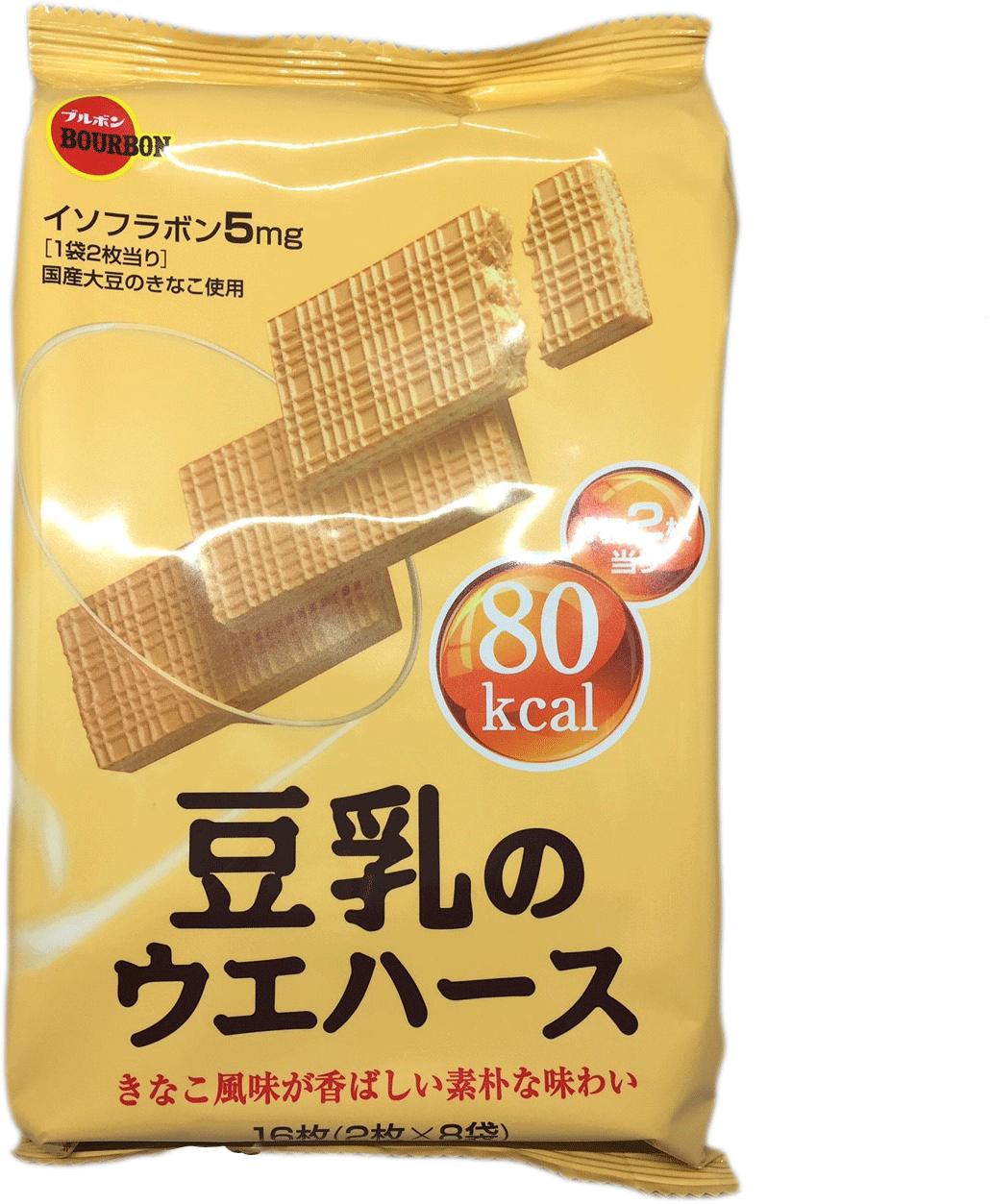 50%OFF【JP00010SN】日本進口北日本 豆乳威化餅-107g-黃