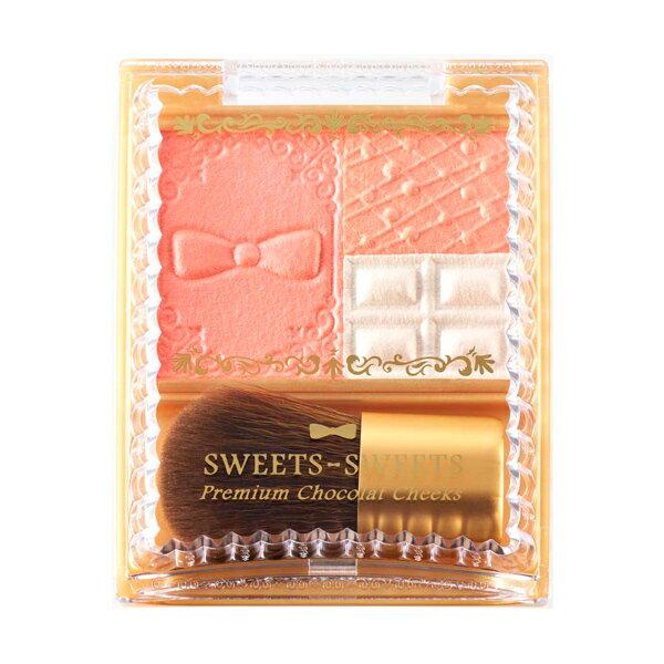 《日本製》SWEETS SWEETS 巧克力莊園甜頰餅-04香橙蛋糕 5.3g (腮紅)
