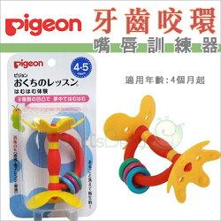 ✿蟲寶寶✿【日本 Pigeon】貝親 嘴唇訓練器/固齒器 花形固齒器新款 黃色小花