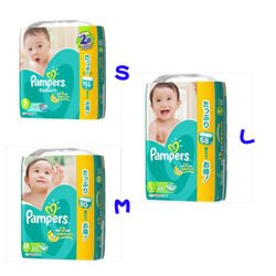 Pampers幫寶適--日本境內版黏貼版瞬吸乾爽嬰幼兒紙尿片(S.M.L)三種尺寸