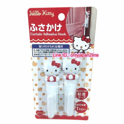 【真愛日本】16110300036壁掛勾2入-KT立體坐姿白  三麗鷗 Hello Kitty 凱蒂貓 日本限定 精品百貨 日本帶回
