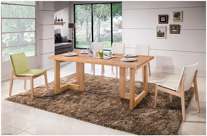 【尚品傢俱】HY-A415-01 科林6尺原木全實木餐桌