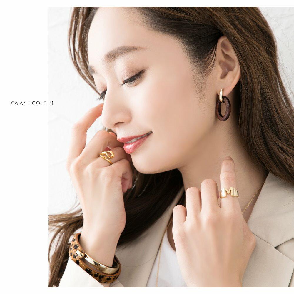 日本CREAM DOT  /  リング 指輪 レディース 15号 ワイドリング ファッションリング イニシャル ヘアライン加工 大人カジュアル シンプル 可愛い ゴールド シルバー  /  a03578  /  日本必買 日本樂天直送(1290) 7