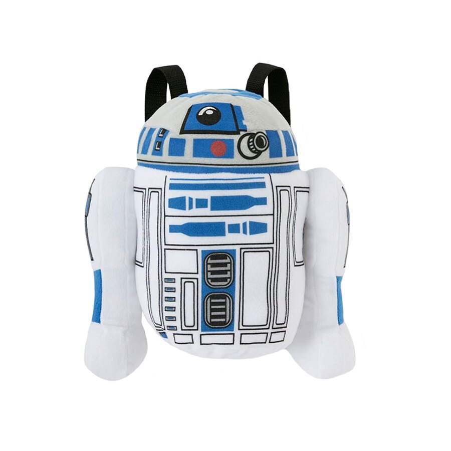 """Star Wars """"R2D2"""" Plush Backpack Kids Bag with Zipper Pouch 0"""