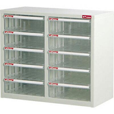【文具通】A4-210H桌上二排型資料櫃(透明抽)A0680029