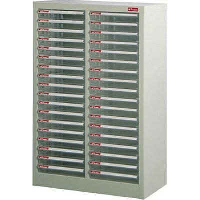 【文具通】A4-236P落地二排型資料櫃(透明抽)A0680072