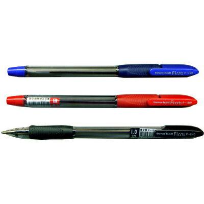 【文具通】TOWO 東文 P-1510 1.0 超滑粗字中油筆 紅 A1011375