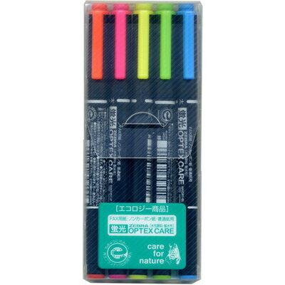 ~文具通~ZEBRA 斑馬 WKCR1 OPTEX雙頭螢光筆5色組 A1040477