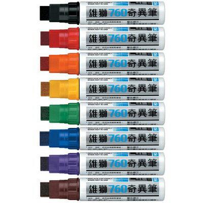 【文具通】SIMBALION 雄獅 760 奇異筆 17mm斜頭 藍 A1090026