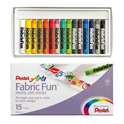 【文具通】Pentel 飛龍 PTS-15 染色蠟筆系列 15色 A1120114