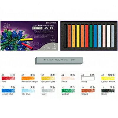 【文具通】雄獅12色硬式粉彩筆 A1120220