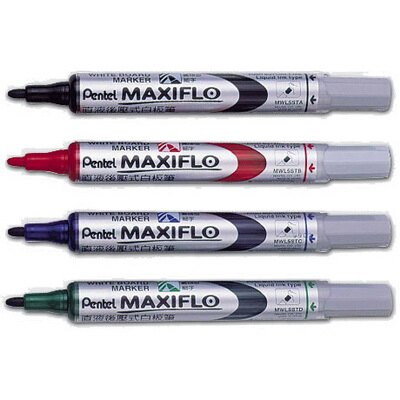 【文具通】Pentel 飛龍 MWL5S 細字後壓白板筆 紅 A1210076