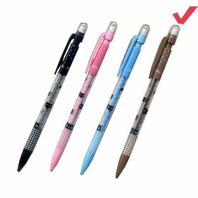 【文具通】TEMPO節奏MP-112 0.5點點貓咪自動鉛筆.茶桿 A1281091