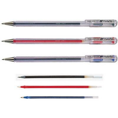 【文具通】Pentel 飛龍 Hybrid中性筆 K105-B 紅 A1300019