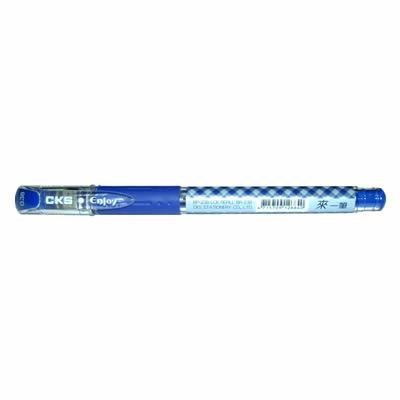 【文具通】CKS 新雪克 BP-238彩格中性筆 藍0.38 A1301956