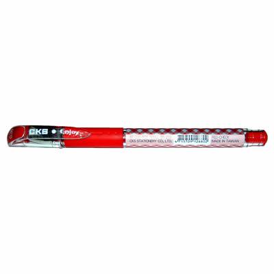 【文具通】CKS新雪克BP-238彩格中性筆紅0.38A1301957