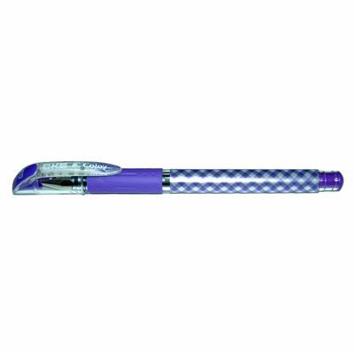 【文具通】CKS 新雪克 BP-238彩格中性筆 紫0.38 A1301962