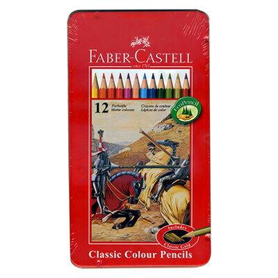【文具通】FABER進口12色鐵盒色鉛筆紅盒.油性A1340270