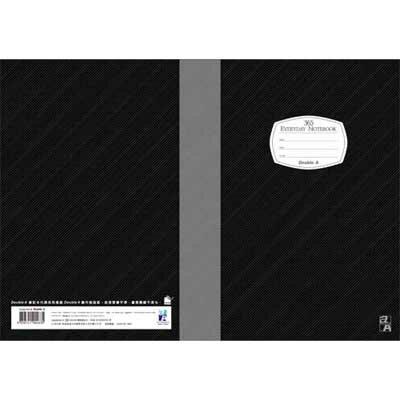 【文具通】Double A 25k40張入膠裝固頁筆記 黑14010 A3011299