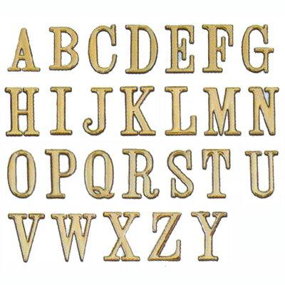【文具通】DIY 圓弧燙金英文字標示牌 可貼 U 5cm AA010495