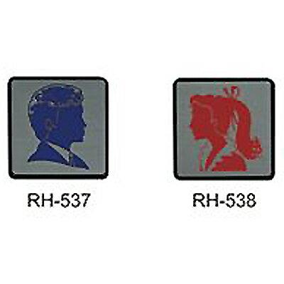 【文具通】標示牌指標可貼鋁鉑 RH-538 化妝室女人頭 11.5x11.5cm AA011195