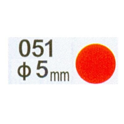 【文具通】Herwood 鶴屋 圓形標籤5mm紅 AS051B