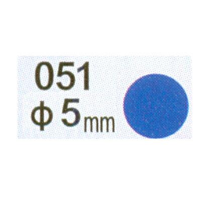 【文具通】Herwood 鶴屋 圓形標籤5mm藍 AS051C