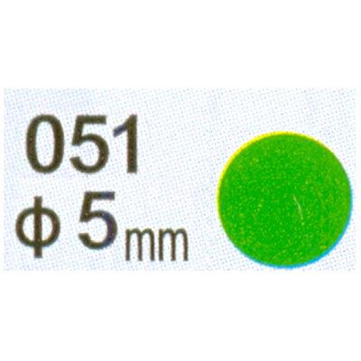 【文具通】Herwood 鶴屋 圓形標籤5mm綠 AS051D
