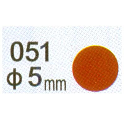 【文具通】Herwood 鶴屋 圓形標籤5mm棕 AS051E
