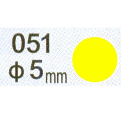 【文具通】Herwood 鶴屋 圓形標籤5mm黃 AS051G