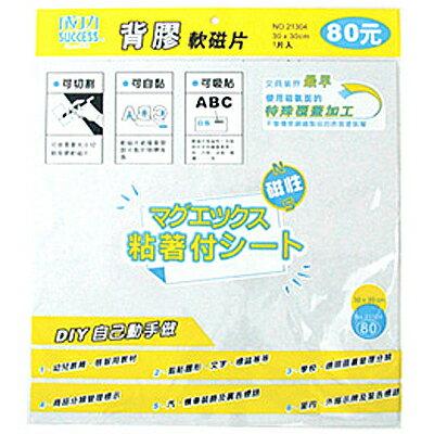 【文具通】SUCCESS 成功 21304 背膠軟磁片 30x30cm 附格網可裁剪切割圖形文字標誌等,幼兒教育啟智用教材 B4010281