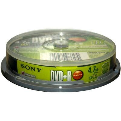 【文具通】SONY DVD+R 16x 10入布丁桶 B4010474