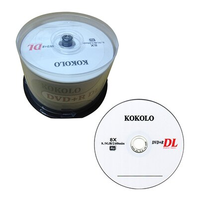 【文具通】SOCOOL DVD+R 8X 8.5GB 50片入 DVD±R 燒錄片 空白光碟片 B4010483 B4010483