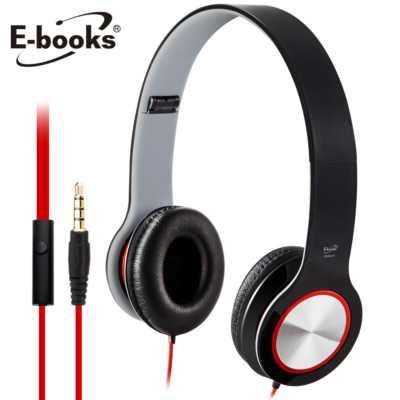 ~文具通~E~books S13 智慧手機接聽鍵摺疊耳機黑 E~EPA073BK