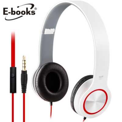 ~文具通~E~books S13 智慧手機接聽鍵摺疊耳機白 E~EPA073WH