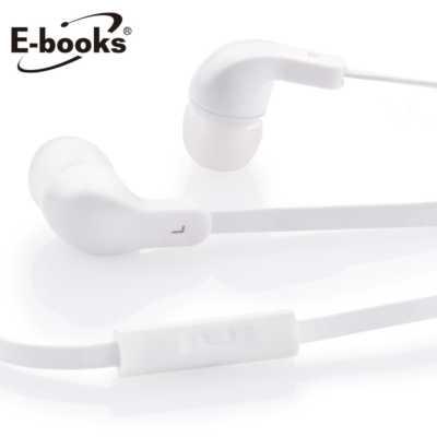 【文具通】E-books G2 iPhone 耳道式耳機+麥克風白 E-EPC052WH