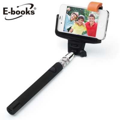 【文具通】E-books N17 新一代藍牙無線自拍桿-黑 E-IPB050BK
