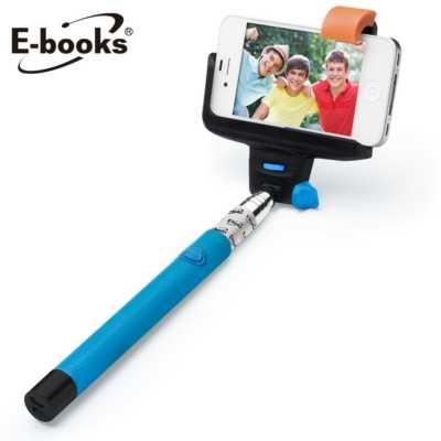 【文具通】E-books N17 新一代藍牙無線自拍桿-藍 E-IPB050BL