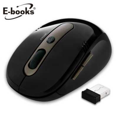 【文具通】E-books M17 省電型1600dpi無線滑鼠黑 E-PCG086BK