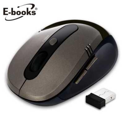 【文具通】E-books M17 省電型1600dpi無線滑鼠古銅 E-PCG086BN