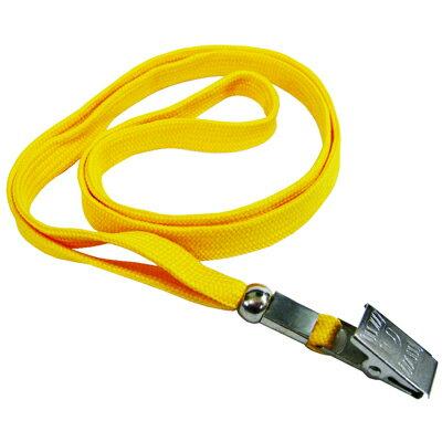 【文具通】無印字 識別證帶 識別帶 掛繩 識別吊式布帶 黃色 E1010104