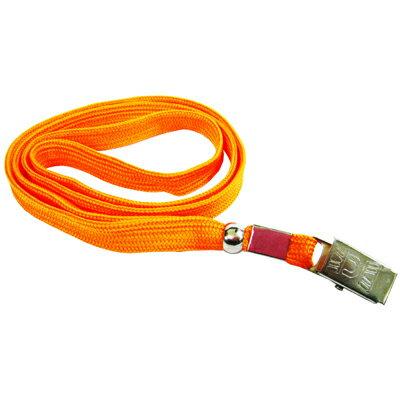 【文具通】無印字 識別證帶 識別帶 掛繩 識別吊式布帶 橘色 E1010105