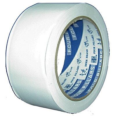 【文具通】鹿頭白色PVC 48mmx27Y膠帶 E1030064