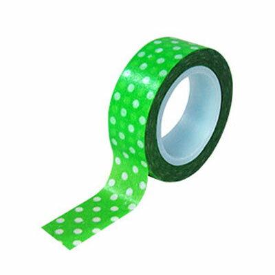 【文具通】力大washido34和紙膠帶-綠水玉12503-7綠E1030517