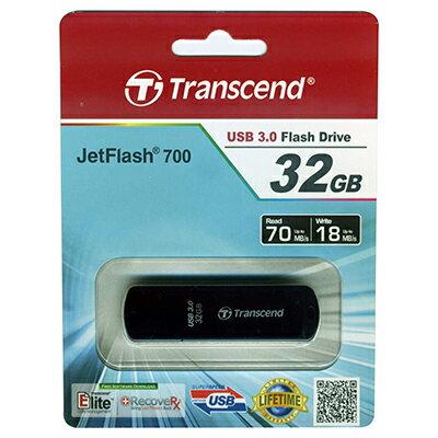 【文具通】創見32G附蓋3.0隨身碟黑TS32GJF700 E1190041