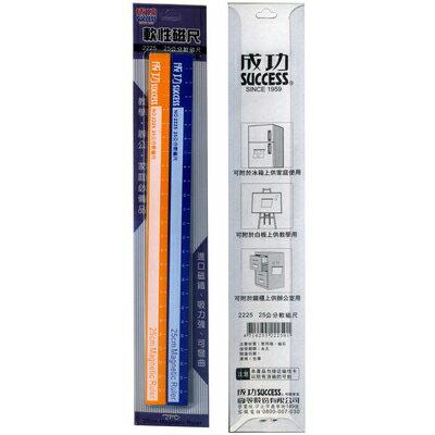 【文具通】SUCCESS 成功 25cm 彩色軟性磁尺2225 2入 F5010175