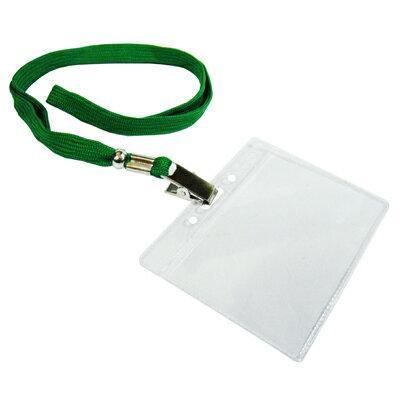 【文具通】無印字識別證套+布帶組[綠]台製 F6010510