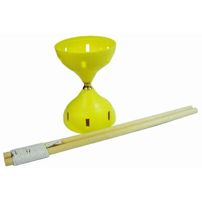 【文具通】頂鶴一 空心 安全 扯鈴 約11x16cm 棍約38cm H1010152